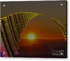 Acrylic Print featuring the digital art Golden Arches by Melissa Messick