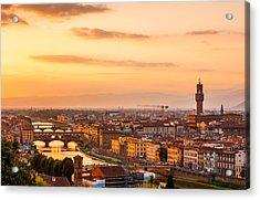 Golden Arno River Acrylic Print