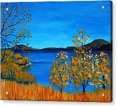 Golden Autumn Acrylic Print by Anastasiya Malakhova