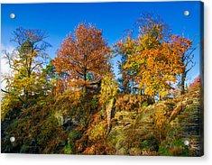 Golden Autumn On Neurathen Castle Acrylic Print