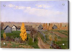 Golden Autumn Slobodka Acrylic Print