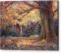 Golden Autumn Acrylic Print by Susan Savad