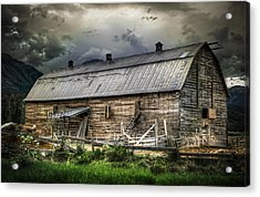 Golden Barn Acrylic Print