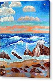 Golden Beach 2 Acrylic Print