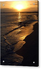 Golden Beach Acrylic Print