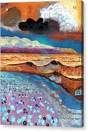 Golden Beach1 Acrylic Print by Vicky Tarcau