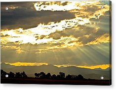 Golden Beams Of Sunlight Shining Down Acrylic Print by James BO  Insogna