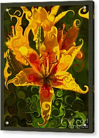 Acrylic Print featuring the painting Golden Beauties by Omaste Witkowski