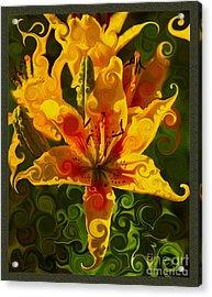 Golden Beauties Acrylic Print