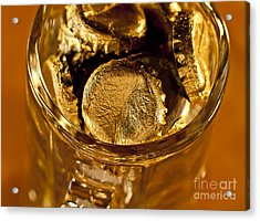 Acrylic Print featuring the photograph Golden Beer  Mug  by Wilma  Birdwell