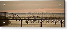 Golden Bridge Acrylic Print by Trish Tritz