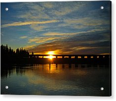 Golden Bronze Sunset Acrylic Print