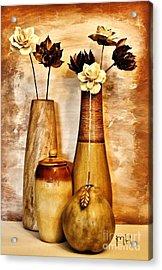 Golden Brown Toned Still Acrylic Print