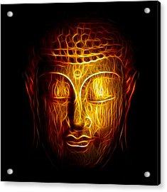Golden Buddha Abstract Acrylic Print by Adam Romanowicz