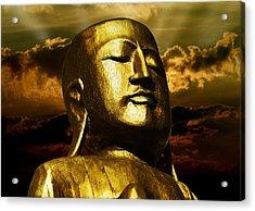Golden Buddha Acrylic Print by Joachim G Pinkawa