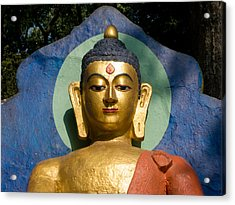 Golden Buddha Acrylic Print by Nila Newsom