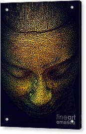 Golden Buddha Acrylic Print by Susanne Van Hulst