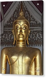 Golden Buddha Temple Statue Acrylic Print by Antony McAulay