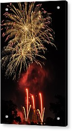 Acrylic Print featuring the photograph Golden Bursts And Ghostly Smoke by Kevin Munro