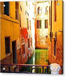 Golden Canal Acrylic Print