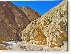 Acrylic Print featuring the photograph Golden Canyon - Death Valley by Dana Sohr