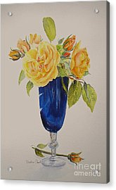 Acrylic Print featuring the painting Golden Celebration by Beatrice Cloake