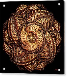 Golden Celtic Mandala Acrylic Print