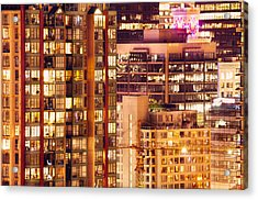 Acrylic Print featuring the photograph City Of Vancouver - Golden City Of Lights Cdlxxxvii by Amyn Nasser