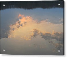 Golden Clouds On Water Acrylic Print by Jaime Neo