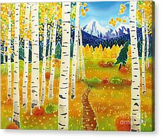 Golden Colorado Day Acrylic Print by Harriet Peck Taylor