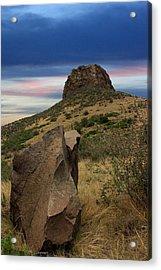 Golden Colorado Sunset  Acrylic Print by AR Annahita