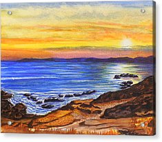 Acrylic Print featuring the painting Golden Cove by Darren Robinson