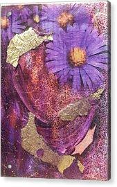 Golden Daisy Acrylic Print