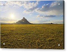 Golden Desert Acrylic Print by Chad Dutson