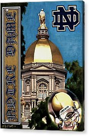 Golden Dome Acrylic Print