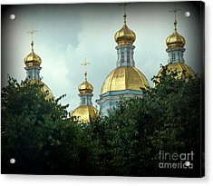 Golden Domes Acrylic Print