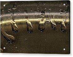 Acrylic Print featuring the photograph Golden Droplets by Geraldine Alexander