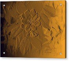 Golden Effulgence Acrylic Print