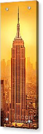 Golden Empire State Acrylic Print