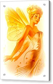 Golden Fairy Acrylic Print by The Creative Minds Art and Photography