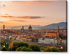 Golden Florence Acrylic Print