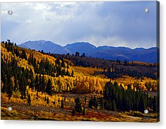 Golden Fourteeners Acrylic Print