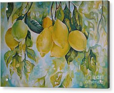 Golden Fruit Acrylic Print by Elena Oleniuc