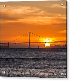 Golden Gate - Last Light Of Day Acrylic Print
