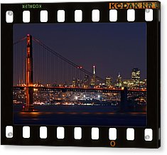 Acrylic Print featuring the photograph Golden Gate 35mm Frame by Christopher McKenzie