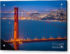 Golden Gate And San Francisco Acrylic Print