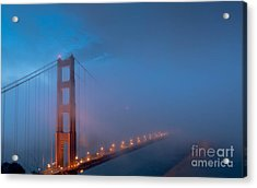 Golden Gate At Blue Hour Acrylic Print
