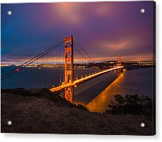 Golden Gate At Twilight Acrylic Print