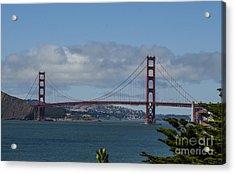 Golden Gate Bridge 2 Acrylic Print by Judy Wolinsky