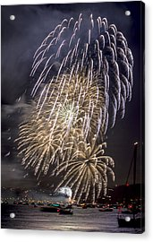 Golden Gate Bridge 75th Anniversary Fireworks 15 Acrylic Print
